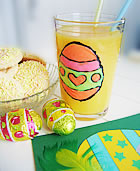 EASTER DECORATIONS - Decorate drinking glasses with window colors