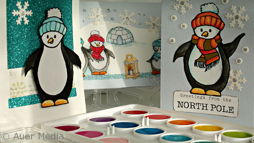 DIY Christmas Cards with Penguins