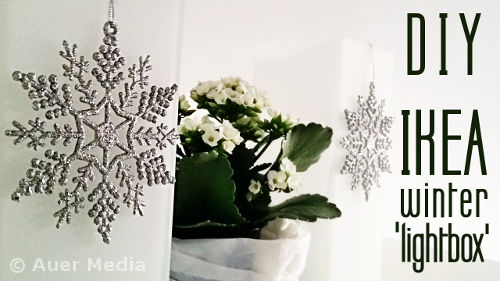 DIY Ikea Winter Lightbox