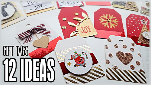 DIY Christmas Gift Tags 12 Simple Ideas