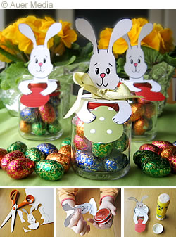 Craft Ideas Glass Jars on Easter Cfafts For Kids   Easter Bunny Jars With Chocolate Eggs