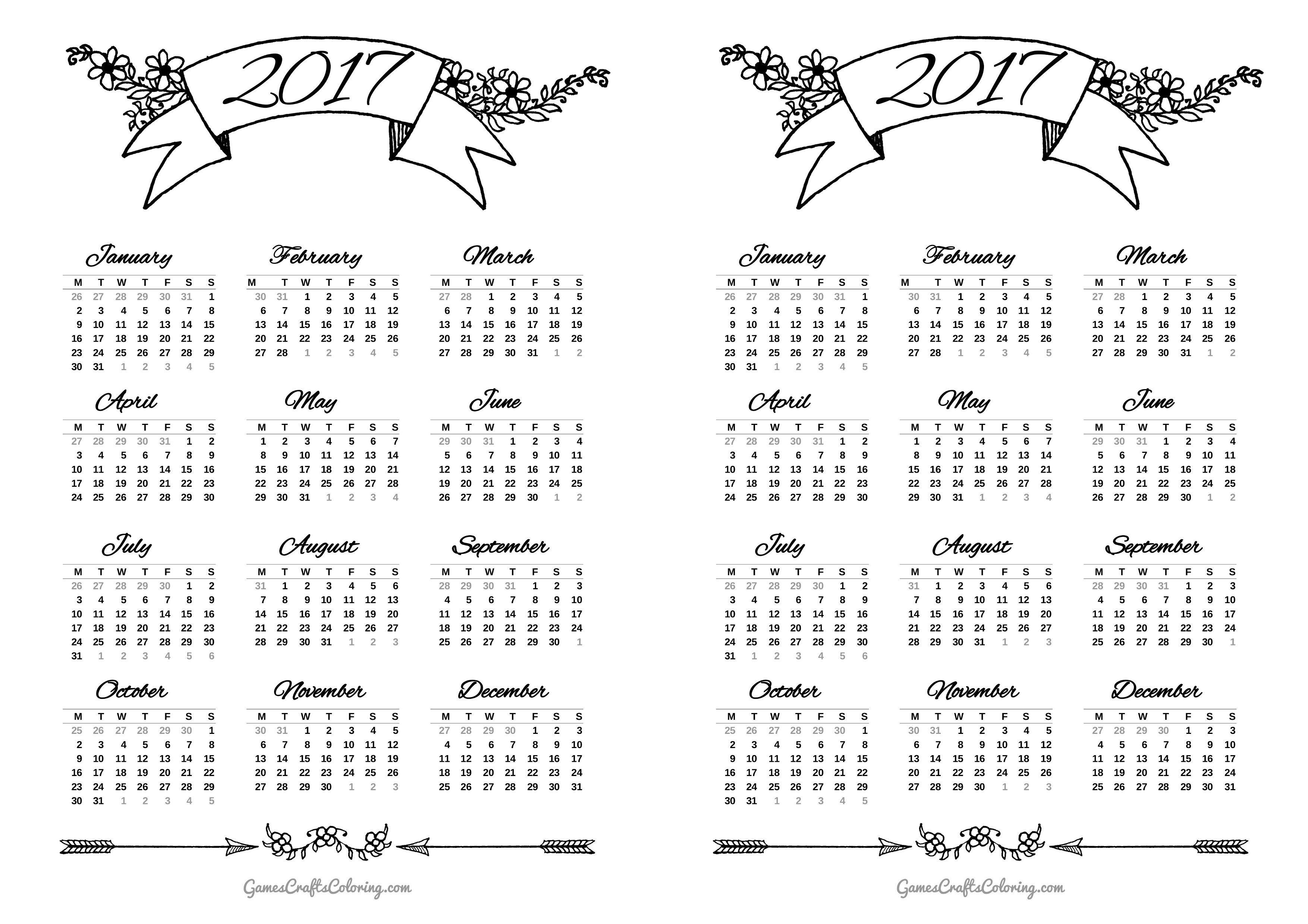 Bullet Journal Printables Calendar : Gcc games crafts coloring bullet journal setup and