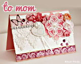 Hand made cards: Shabby chic mother's day card