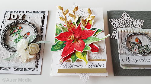 DIY Christmas Holiday Cards with Napkins Decoupage