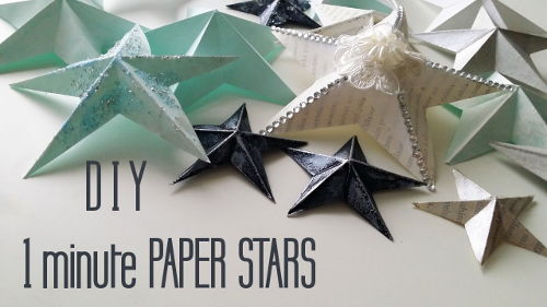 DIY one minute easy to make paper stars